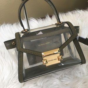 Michael Kors Bags - New Michael Kors Whitney olive mini messager bag